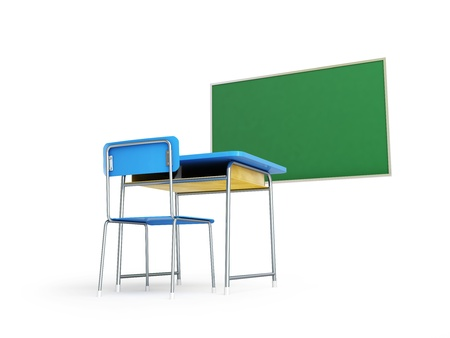 elite school desk 3d Illustrations on a white background Stock Illustration - 18240432