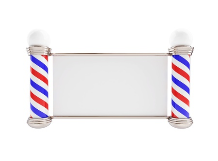 barber pole: Barber Pole 3d Illustrations on a white background