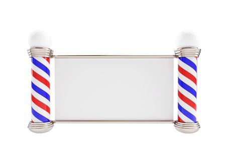 barbershop: Kapper Pool 3D Illustraties op een witte achtergrond Stockfoto