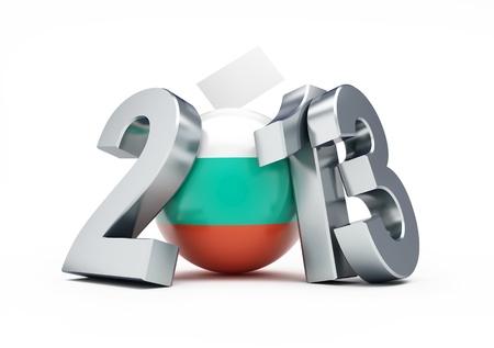parlamentario: elecciones parlamentarias en Bulgaria 2013 Ilustraciones 3D sobre un fondo blanco Foto de archivo