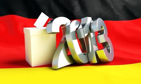 parlamentario: Las elecciones parlamentarias en Alemania 2013 Foto de archivo
