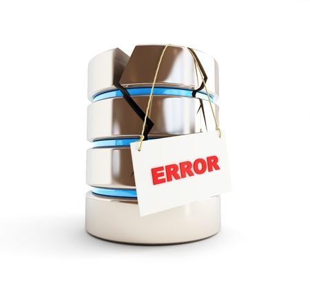 database error on a white background photo