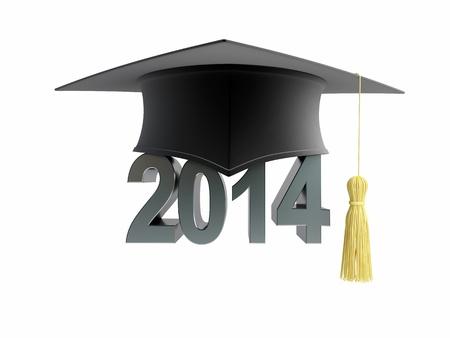 alumnus: graduation cap 2014 on a white background
