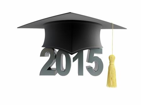 Skalenhaube 2015 auf einem weißen Hintergrund Standard-Bild - 19745215