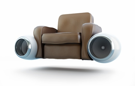aircraft engine leather armchair photo