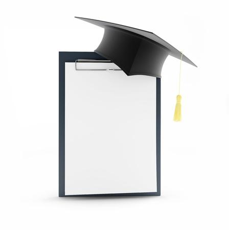 alumnus: school graduation blank on a white background