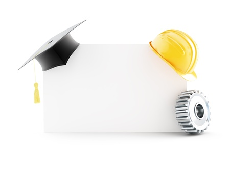 examiert: education builder 3d Illustrations on a white background