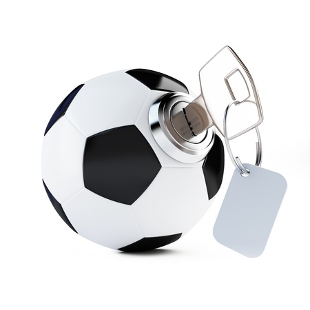 key football, soccer ball on a white background photo