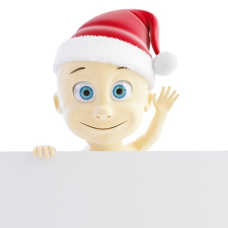 nappy new year: baby santa hat on a white background Stock Photo