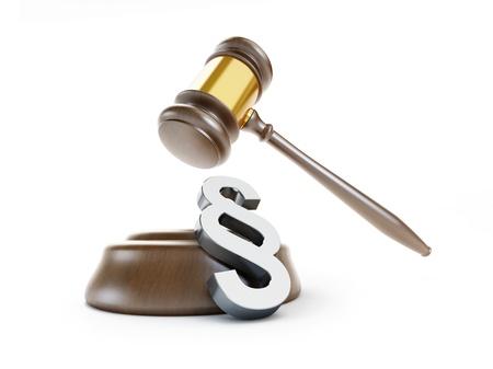 Gesetz Paragraph Symbol auf einem weißen Hintergrund Standard-Bild - 21652833