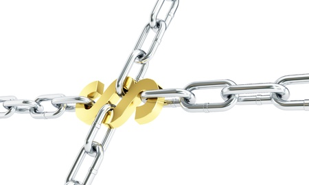 paragraf: Paragraph chain links isolated on a white background