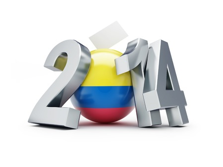 presidential: Presidential elections in Colombia 2014 on a white background Stock Photo
