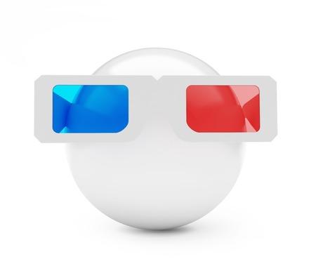 stereoscope: 3d glasses ball