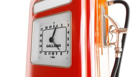 vintage gasoline fuel pump 3d Illustrations on a white background Stock Illustration - 25038879