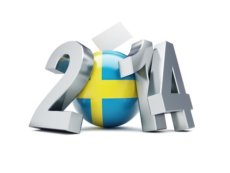parliamentary: Parliamentary elections in Sweden on a white
