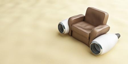 aircraft engine leather armchair beach