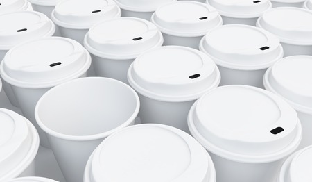 coffee cup background on a white background photo