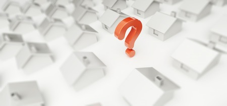 home question mark on a white background photo
