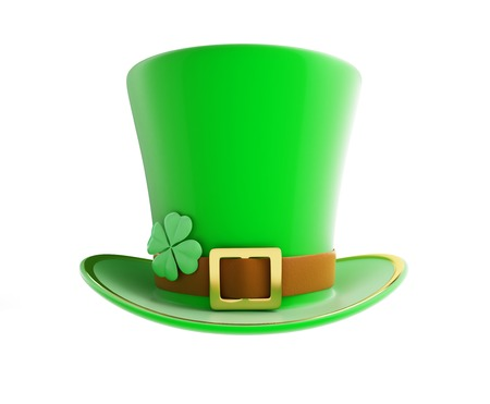 St. Patricks day green hat on a white background photo
