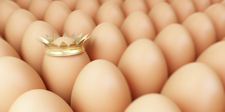 contrasts: grow egg row background Stock Photo