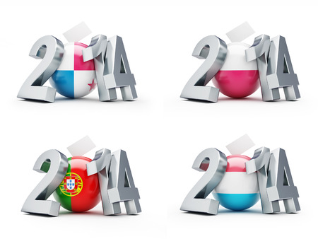 elections in Poland, Portugal, Luxembourg 2014 photo