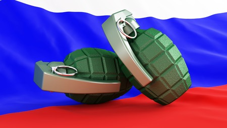 Grenades flag Russia photo