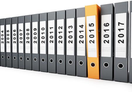 Office-Ordner neue Jahr 2015 auf einem weißen Hintergrund Standard-Bild - 33087743