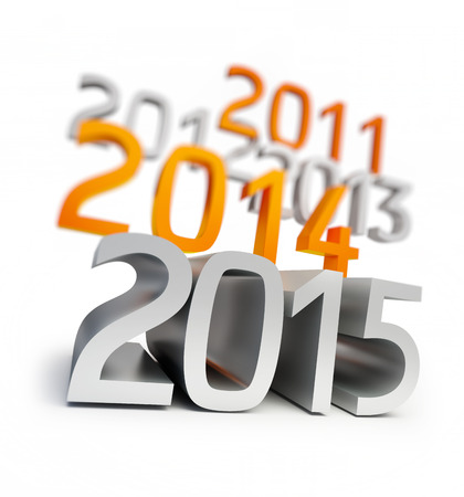 new year 2015. 3d Illustrations on a white background illustration