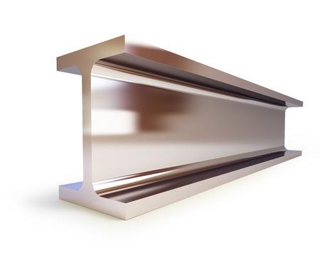 steadiness: metallic joists on a white backgroun