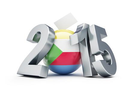 parlamentario: Las elecciones parlamentarias en Comoras 2015 sobre un fondo blanco