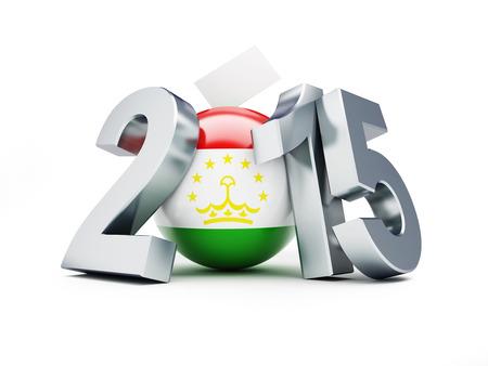 parlamentario: Las elecciones parlamentarias en Tayikist�n 2015 sobre un fondo blanco