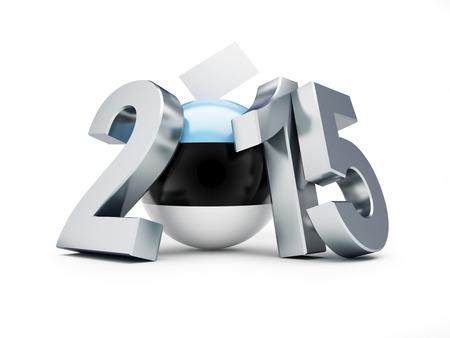 parlamentario: elecciones parlamentarias en estonia 2015 sobre un fondo blanco