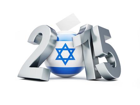 parlamentario: elecciones parlamentarias en Israel 2015 sobre un fondo blanco