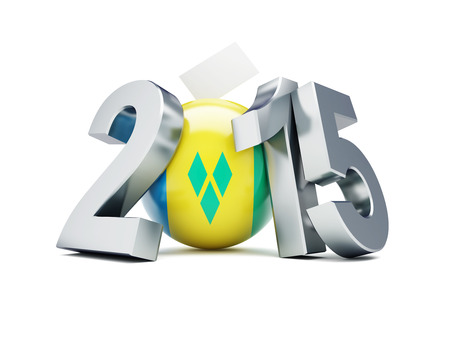 parliamentary: Parliamentary elections in St. Vincent and the Grenadines 2015  on a white background Stock Photo
