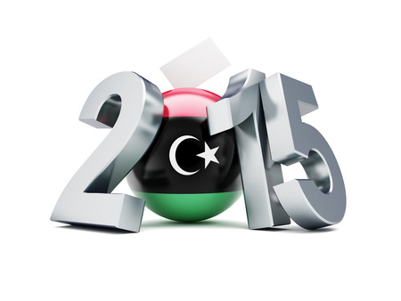 constitutional: libyan constitutional referendum 2015 on a white background