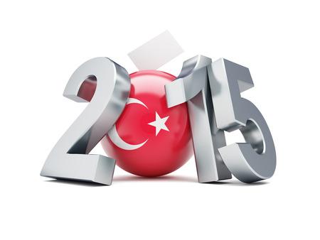 parlamentario: elecciones parlamentarias en 2015 de pavo sobre un fondo blanco