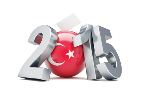 parliamentary: parliamentary elections in turkey 2015 on a white background Stock Photo
