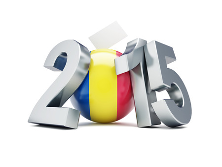 constitutional: Romanian constitutional referendum 2015 on a white background Stock Photo