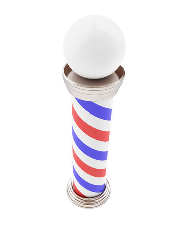 metal pole: Barber Pole 3d Illustrations on a white background