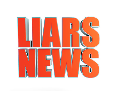 fires artificial: liars news a white background