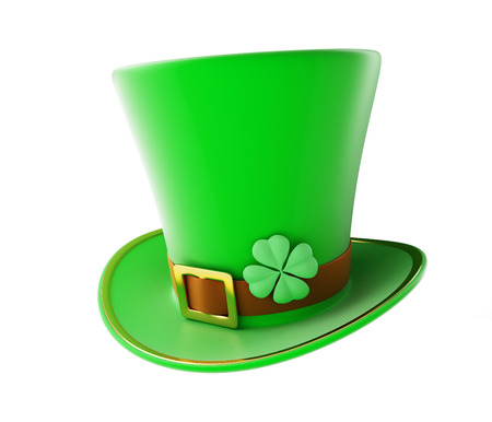 st patty day: St. Patricks day green hat on a white background Stock Photo