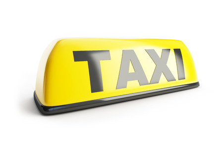taxi sign: Taxi sign 3d on white background Stock Photo