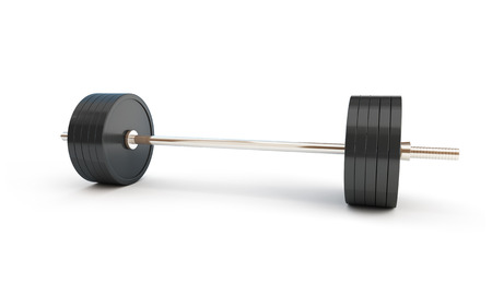 knurled: weightlifting on white background
