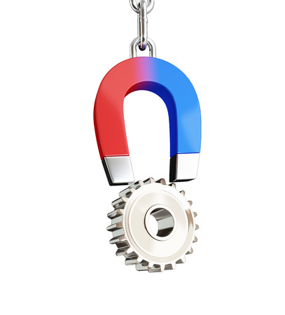 magnet gear on white background