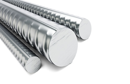 reinforcing: reinforcing steel. 3d Illustrations on a white background