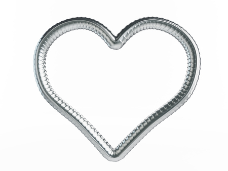 reinforcing bar: reinforcement heart symbol.  3d Illustrations on a white background