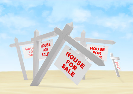 home construction: hose for sale in a desert