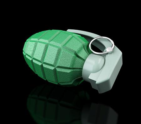 pull toy: granada sobre un fondo negro
