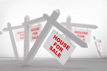 construction house: hose for sale 3d Illustrations