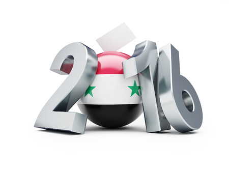 parliamentary: Parliamentary elections in Syria 3d Illustrations on a white background Stock Photo